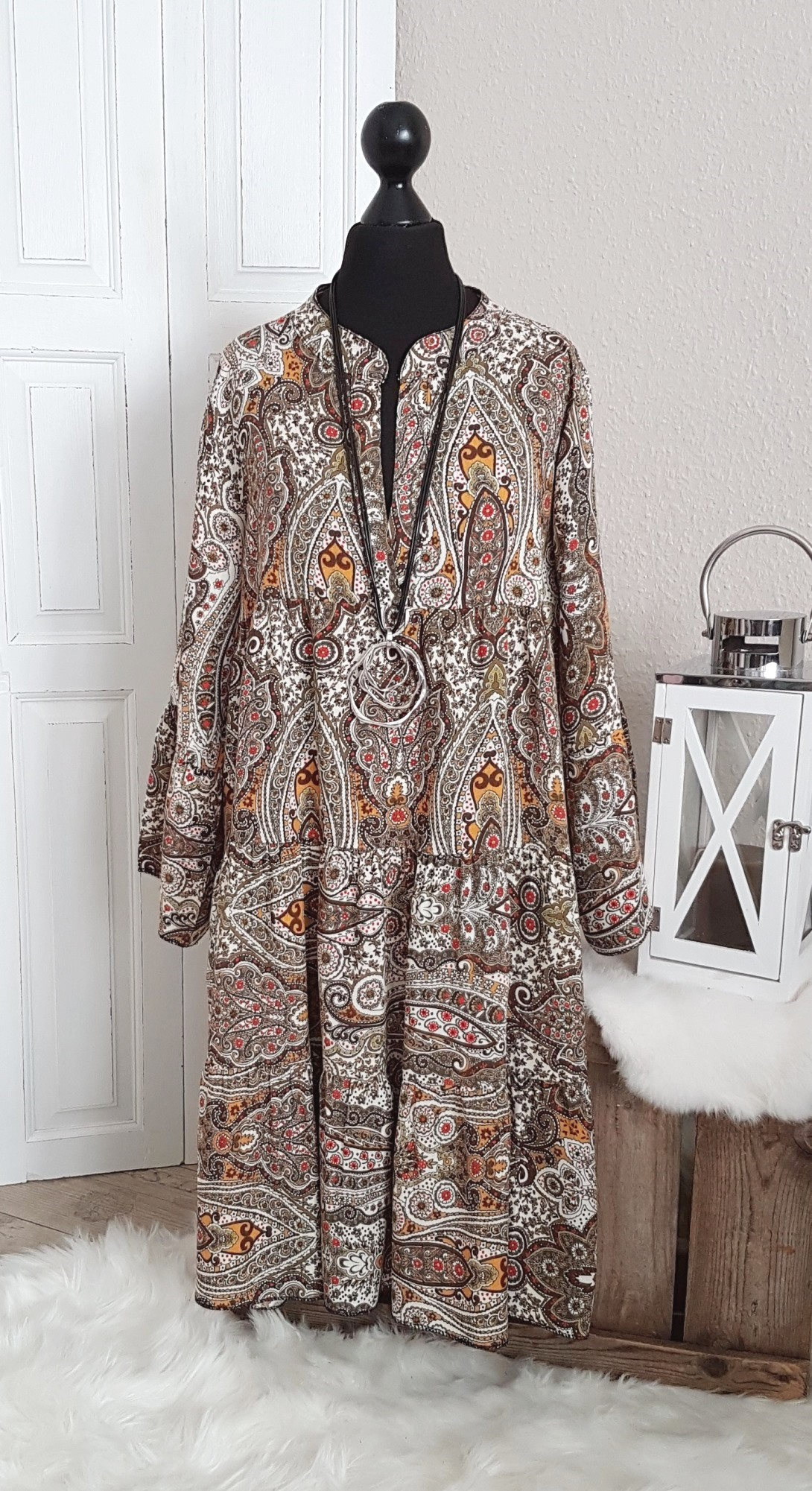 Kleid Mit Paisley Muster Modepark Rother Online Shop