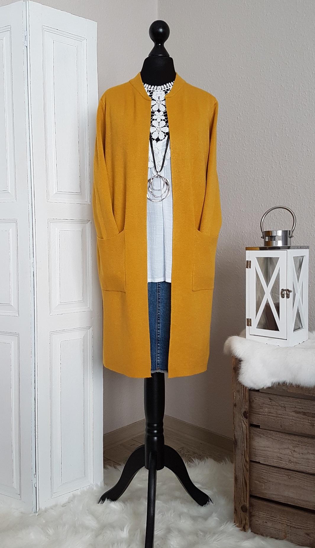 DENGZI Winterm/äntel F/ür Frauen Langarm Cardigan Jacke Farbblock Open Front Fashion Mantel